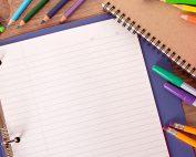 school supplies like binder and pencils