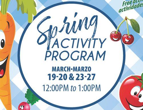 Spring Break Activity Program – Free Lunch, Free Activities | Almuerzo gratis actividades gratis