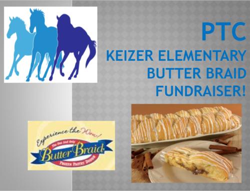 Keizer Elementary Butter Braid Fundraiser 2021-22