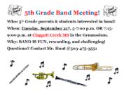 5th grade band meeting